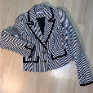 BREAD N BUTTER Striped Nautical fitted blazer NWOT